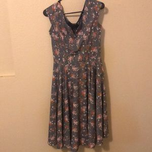 Mod cloth floral dress, size Small